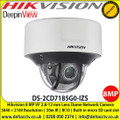 Hikvision DS-2CD7185G0-IZS 8MP IR Vari-Focal Dome Network Camera,  3840 × 2160 @ 30 fps, • 2.8 to 12 mm motor-driven lens, IR range up to 30 m,  Alarm I/O, Audio I/O, RS-485,  Built-in microSD/SDHC/SDXC card slot, up to 256 GB