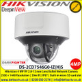 Hikvision DS-2CD7546G0-IZ(H)S 4 MP IR Vari-Focal Darkfighter Dome Network Camera, 2.8 to 12 mm motor-driven lens, 140 dB WDR,  Alarm I/O, Audio I/O,  IP67, IK10, Built-in microSD/SDHC/SDXC card slot, up to 256 GB