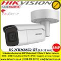 Hikvision DS-2CD2686G2-IZS AcuSense 8MP motorized varifocal Darkfighter bullet camera with IR , Up to 50m IR distance H.265+ compression 4 analytics IP66 weatherproof 120dB wide dynamic range
