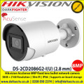Hikvision DS-2CD2086G2-I(U) AcuSense 8MP fixed lens Darkfighter bullet camera with IR, Up to 30m IR distance H.265+ compression 4 analytics IP66 120dB wide dynamic range