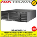 HIKVISION DS-96064NI-I16 12MP 64 Channel NVR, Up to 16 SATA interfaces