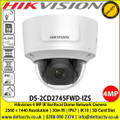 Hikvision 4 MP IR Varifocal Dome Network Camera with 2.8 to 12 mm motorized varifocal lens, 30m IR, IP67, IK10, WDR, Built-in microSD/SDHC/SDXC card slot, up to 128 GB - DS-2CD2745FWD-IZS