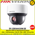 Hikvision DS-2DE4A425IW-DE 4MP 25× Network IR PTZ Camera with , 50m IR distance , 25× optical zoom, 16× digital zoom, 120 dB WDR, 3D DNR, HLC, BLC, Support H.265+/H.265 video compression