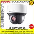 Hikvision 4MP 25× Network IR PTZ Camera with , 50m IR distance , 25× optical zoom, 16× digital zoom, 120 dB WDR, 3D DNR, HLC, BLC, Support H.265+/H.265 video compression (DS-2DE4A425IW-DE)