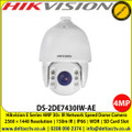 Hikvision DS-2DE7430IW-AE 4MP 30× IR Network Speed Dome Camera with 150m IR Distance, 30× Optical Zoom, 16× Digital Zoom, Defog, EIS, 3D DNR, BLC, HLC, Digital WDR, Support H.265+/H.265 video compression