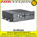 Hikvision DS-MP5504 4 Channel 4G Wi-Fi Mobile DVR with Pluggable 3G/4G module and Wi-Fi module, Support accessing via WEB browser, Connectable to PTZ camera and PTZ control is supported