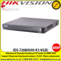 Hikvision 8 channel AcuSense TVI Turbo 5.0 8MP DVR with Connectable to HD-TVI, AHD, IP, CVI & analogue cameras, Support Deep learning-based analysis - IDS-7208HUHI-K1/4S(B)