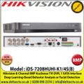 Hikvision - 8 Channel 8MP AcuSense TVI Turbo 5.0 DVR, HDTVI/AHD/CVI/CVBS/IP Video Inputs, 1 SATA Interface, H.265 Pro+ Video Compression, Deep Learning-Based Behavior Analysis or Facial Detection - iDS-7208HUHI-K1/4S(B)