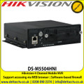 Hikvision Mobile NVR DS-M5504HNI 4 Channel, 4 independent network interfaces connectable to 4 IP cameras, Pluggable dummy HDD for HDD with up to 2 TB capacity