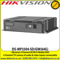 Hikvision DS-MP3504-SD/GW(64G) 4 Channel 4G Wi-Fi Mobile DVR with 4-ch TVI camera of audio & video inputs connectable, Built-in GPS