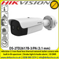 Hikvision 3.1mm fixed lens thermal network bullet camera with built in Bi-spectrum - DS-2TD2617B-3/PA