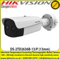Hikvision 13mm fixed lens thermographic bullet body temperature measurement camera - DS-2TD2636B-13/P