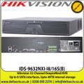 Hikvision 32 Channel DeepinMind NVR, Up to 12 Megapixels resolution recording, Up to 8 SATA interfaces, Upto 48TB internal storage, False alarm filtering for up to 16ch behaviour - (IDS-9632NXI-I8/16S(B))