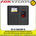Hikvision DS-K1A802MF-B Fingerprint Time Attendance Terminal, Person information structure: based on employee ID, Lithium battery