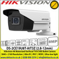 Hikvision DS-2CE19U8T-AIT3Z (2.8-12mm) 4K Motorized Varifocal TVI/CVBS Bullet Camera 3840 × 2160 Resolution | 80m IR | IP67 | WDR | Ultra-low light