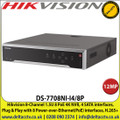 Hikvision 8-Channel 1.5U 8 PoE 4K NVR, 4 SATA interfaces,  Plug & Play with 8 Power-over-Ethernet(PoE) interfaces - DS-7708NI-I4/8P
