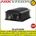 Hikvision DS-6701HUHI 1 Channel 5MP H.265 DVS, 1 analog camera can be connected Encoding abilty up to 5MP @ 12 fps, SD Card Slot, 5 singals input