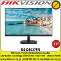 """Hikvision DS-D5027FN 27"""" Full HD LED Hikvision Boarderless Monitor with HDMI & VGA, 1920 x 1080 resolution, Vesa Mount"""