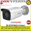 Hikvision DS-2CD2T86G2-2I (4mm) 8MP Fixed lens AcuSense Darkfighter Bullet Network Camera 3840 × 2160 @ 20fps, 50m IR Distance, IP67, Built-in micro SD card slot