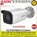 Hikvision DS-2CD2T86G2-2I (2.8mm) 8MP Fixed lens AcuSense Darkfighter Bullet Network Camera 3840 × 2160 @ 20fps, 50m IR Distance, IP67, Built-in micro SD card slot