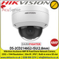 Hikvision DS-2CD2146G2-ISU(2.8mm)  AcuSense 4MP IR Fixed Lens DarkFighter Dome Network Camera, 30m IR, IP67, Built-in micro SD slot