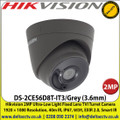 Hikvision DS-2CE56D8T-IT3/Grey 2MP Ultra-Low Light 3.6mm Fixed Lens TVI Turret Camera, 1920 × 1080 Resolution, 40m IR, IP67, EXIR 2.0, Smart IR