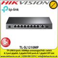 TP-LINK 8-Ports 100Mbps Unmanaged PoE+ Switch  & 2 Port Gigabit, 2 Gigabit RJ45 Ports & 1 Gigabit SFP Slot - TL-SL1210MP