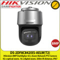 Hikvision 8MP 7.5 - 315mm Lens 42 x optical zoom DarkFighter Network IR PTZ Speed Dome Camera, 500m IR Distance, IP67, WDR, Smart tracking, 24V AC / Hi-PoE (60W)  3D intelligent positioning  - DS-2DF8C842IXS-AELW (T2)