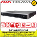 Hikvision 4-Channel 4G NVR, 1 SATA, 4 Independent PoE, 4G Wireless Network, SIM/UIM Card Slot on rear panel - DS-7604NI-K1/4P/4G