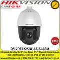 "Hikvision 2 MP DarkFighter 5"" 25 x Zoom  IP-PTZ Speed Dome Camera  1920 × 1080@30fps, 150m IR, IP66, 24 VAC & Hi-PoE - DS-2DE5225IW-AE/ALARM"