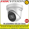Hikvision 8 MP 2.8 to 12mm Varifocal Lens Turret Network Camera with Audio 30m IR, IP67 Weatherproof, IK10, WDR, Anti-IR reflection, Built-in Micro SD/SDHC/SDXC Card Slot - DS-2CD2H85G1-IZS(2.8-12MM)
