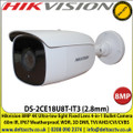 Hikvision 8MP 4K Ultra-low light Fixed Lens 4-in-1 Bullet Camera, 60m IR Distance, IP67 Weatherproof, 120dB WDR, 3D DNR, TVI/AHD/CVI/CVBS - DS-2CE18U8T-IT3 (2.8mm)