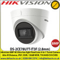 Hikvision 8MP 4K Ultra-low light Fixed Lens 4-in-1 Turret Camera, 60m IR Distance, IP67 Weatherproof, EXIR, 130dB WDR, TVI/AHD/CVI/CVBS - DS-2CE78U7T-IT3F (2.8mm)