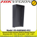 "Hikvision DS-KABD8003-RS2 Double Gang Rain Shield For Modular Intercom, Dimensions 224 × 116.4 × 58 mm (8.82"" × 4.58"" × 2.28"")"