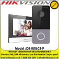 Hikvision DS-KIS603-P Video Intercom Villa Door Station Kit Standard PoE, 2MP HD camera, Low illumination,Tamper-proof