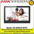 Hikvision - DS-KH8520-WTE1 Video Intercom Indoor Station with 10-Inch Touch Screen, Standard PoE, Views Live Videos of Door and Linked Cameras