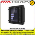 Hikvision - DS-KD-DIS Video Intercom Display Module, 3.5-inch LCD Screen with Resolution 320 × 480p,  4 Physical Buttons with Backlight