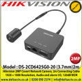 Hikvision - DS-2CD6425G0-20 (3.7mm)2m  2MP Covert Network Camera, 2m Connecting Cable  1920 × 1080 Resolution, Audio and alarm I/O, 120dB WDR