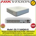Hikvision - 16 Channel 2MP Full HD DVR, 5 Signals Input Adaptively HDTVI/AHD/CVI/CVBS/IP, H.265 Pro+ Video Compression - DS-7116HQHI-K1