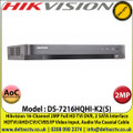 Hikvision - 16 Channel 2MP Audio Via Coaxial Cable DVR, HDTVI/AHD/CVI/CVBS/IP Video Input, 2 SATA Interface, H.265 Pro+/H.265 Pro/H.265 Video Compression - DS-7216HQHI-K2(S)