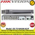 Hikvision - 16 Channel 8MP TVI Turbo 4.0 PoC DVR, Self-adaptive Normal Camera & Hikvision PoC Camera Connection, 2 SATA Interface, H.265+/H.265/H.264+/H.264 Video Compression - DS-7216HUHI-K2/P