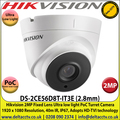 Hikvision - 2MP 2.8mm Fixed Lens Ultra Low Light HD-TVI PoC Turret Camera, 40m IR Distance, IP67 Weatherproof, True Day/Night, Smart IR, EXIR 2.0 - DS-2CE56D8T-IT3E