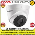 Hikvision 2MP 2.8mm Fixed Lens Ultra Low Light HD-TVI PoC Turret Camera, 40m IR Distance, IP67 Weatherproof, True Day/Night, Smart IR, EXIR 2.0 - DS-2CE56D8T-IT3E