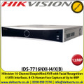 Hikvision 16-Channel 12MP DeepinMind NVR with Facial Recognition, 4 SATA Interfaces, 8-Ch Human Face Capture at Up to 4MP, HDMI and VGA Output - IDS-7716NXI-I4/X(B)