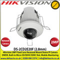 Hikvision 2MP 2.8mm Fixed Lens Recessed Mount Dome Network Camera, Digital WDR, Dual-streams, Support SD/SDHC/SDXC Card - DS-2CD2E20F