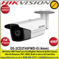 Hikvision 4MP 4mm Fixed Lens Darkfighter PoE IP Network Bullet Camera, 50m IR Distance, IP67 Weatherproof, WDR, H.265+ Compression, Built-in micro SD/SDHC/SDXC Card Slot - DS-2CD2T45FWD-I5