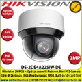Hikvision 2MP DarkFighter IR PoE IP Network Speed Dome Mini PTZ Camera, 25 x Optical Zoom, 16 x Digital Zoom, 50m IR Distance, IP66 Weatherproof, WDR, H.265+, Built-in micro SD/SDHC/SDXC Card Slot, Auto tracking, Audio Line in - DS-2DE4A225IW-DE