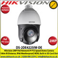 Hikvision - 2MP DarkFighter IR PoE IP Network Speed Dome PTZ Camera, 25 x Optical Zoom, 100m IR Distance, IP66 Weatherproof, WDR, Built-in micro SD/SDHC/SDXC Card Slot, Defog - DS-2DE4225IW-DE