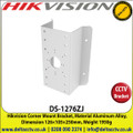 Hikvision -  Corner Mount Bracket, Material Aluminum Alloy, Dimension 126×105×250mm, Weight 1950g - DS-1276ZJ