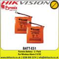 Pyronix - Battery - 2 / Pack - For Wireless Alarm - 3 V DC - BATT-ES1
